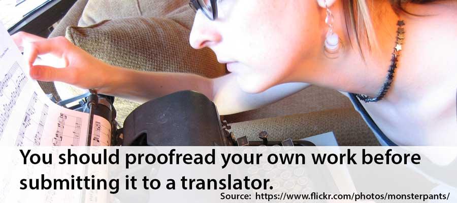 proofreading translations
