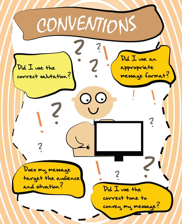writing conventions Rules and conventions of academic writing the details in this hand-out are based on material first developed by hazel hall at.