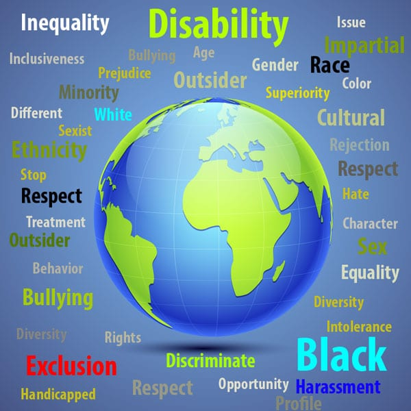 Disability, Inequality, sexist, white, different, black, discrimination, cultural. respect, handicapped