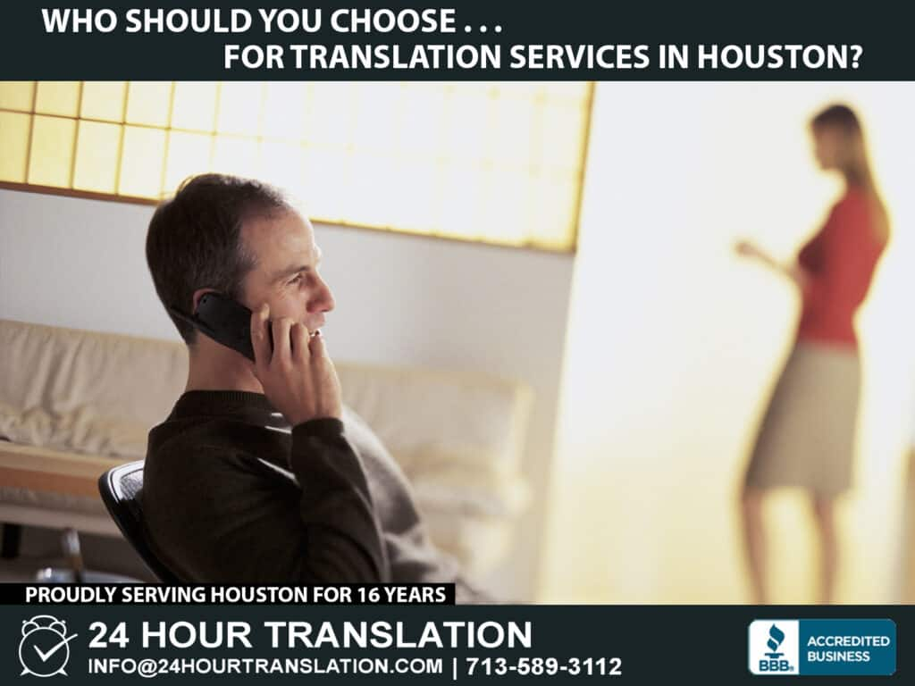 Translation services in Houston, Texas
